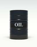 Oil barrels on a white background Stock Photos