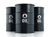 Oil barrels. On white background stock illustration