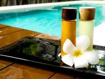 Oil bath. For massage at spa Stock Photo