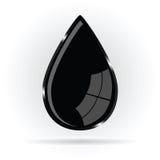 Oil black drop  illustration Stock Image