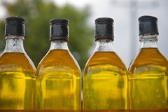 Oil in the bottle Royalty Free Stock Image