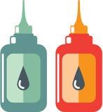 Oil Bottle Vector Royalty Free Stock Photo