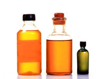 Oil bottles Stock Photography
