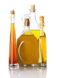 Oil bottles  isolated Royalty Free Stock Photography