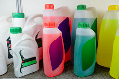 Oil in bottles Royalty Free Stock Images