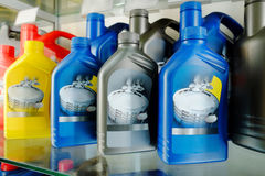 Oil in bottles Stock Photography