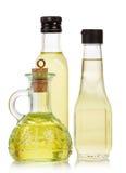 Oil in bottles Stock Photo
