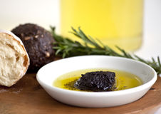 Oil and bread. Close up shoot Royalty Free Stock Images