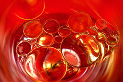 Oil bubble. Close up of colored oil bubble Royalty Free Stock Photo