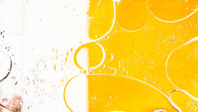 Oil bubbles abtract. Oil drops on a water surface. Abtract background Royalty Free Stock Images