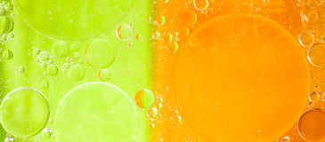 Oil bubbles abtract Stock Images