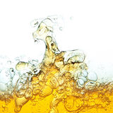 Oil bubbles in water. Stock Photos