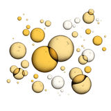 Oil Bubbles  on White Stock Photography
