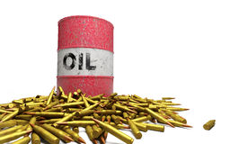 Oil bullets Stock Photo