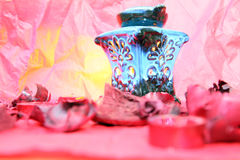 Oil burner. Aroma therapy oil burner item Royalty Free Stock Photo