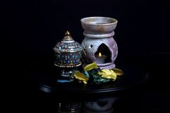 Oil Burner. With Thai Cup Stock Image