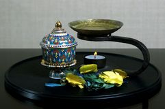 Oil Burner. With Thai Cup Stock Photography