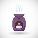 Oil burner  flat icon Stock Images
