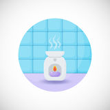 Oil burner  flat icon Royalty Free Stock Image