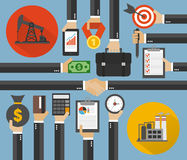 Oil Business,Management concept design flat Royalty Free Stock Photo