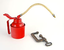Oil Can and C-Clamp Stock Photos