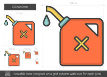 Oil can line icon. Stock Image