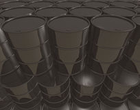 Oil cans background Royalty Free Stock Images