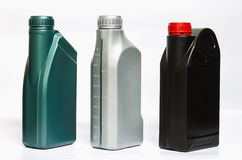 Oil cans. Lubricating oil can on white background Stock Image
