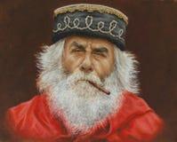 Oil on canvas of a senior Garibaldi Stock Images