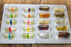 Oil in capsules Stock Photography