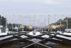 Oil cargo transfer station. In Klaipeda, Lithuania Stock Photo