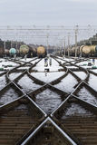 Oil cargo transfer station Stock Photo