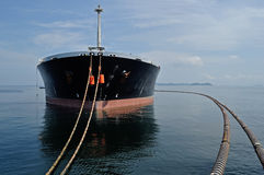 Oil-carrier in port for loading Royalty Free Stock Images