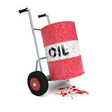 Oil cart blood Stock Image