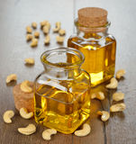 Oil from cashew Royalty Free Stock Images