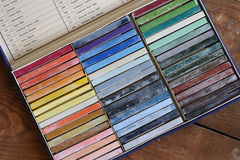 Oil chalks in box Stock Photography