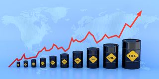 Oil chart Royalty Free Stock Photos