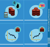 Oil Chart and Money Stock Photo