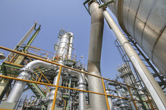 Oil and chemical industrial plant Royalty Free Stock Image