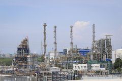 Oil and chemical plant Royalty Free Stock Photography