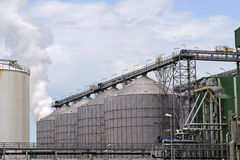 Oil and chemical refinery  Royalty Free Stock Photography