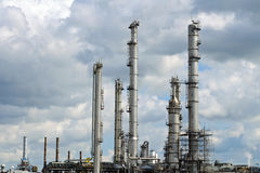 Oil and chemical refinery Stock Image