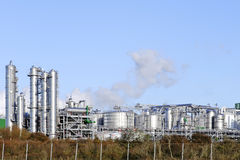 Oil and chemical refinery Royalty Free Stock Photo