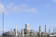 Oil and chemical refinery. Wide view on a oil and chemical refinery Royalty Free Stock Image
