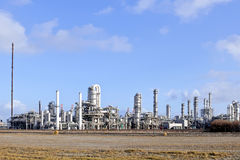 Oil and chemical refinery. Wide view on a oil and chemical refinery Stock Photography