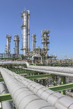 Oil and chemical refinery factory Royalty Free Stock Images