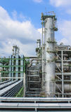 Oil and chemical structure plant Royalty Free Stock Image