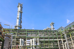 Oil and chemical structure plant Stock Image