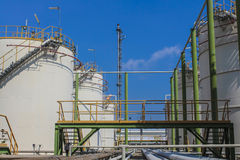 Oil and chemical Tank storage Royalty Free Stock Images