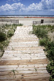Oil Closed Beach & Boardwalk, Gulf Coast Royalty Free Stock Photography